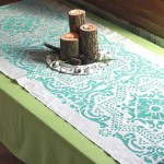 Stenciled Drop Cloth Table Runner