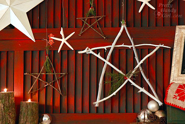 twig star decorations