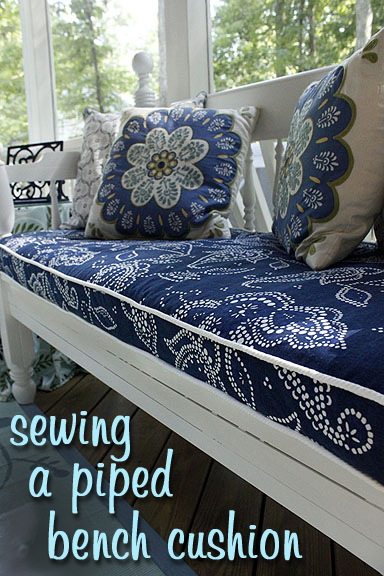 Sewing a Bench Cushion with Piping