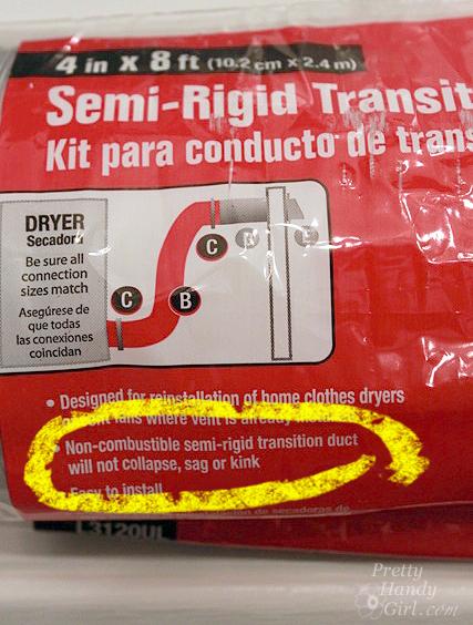 semi rigid dryer hose