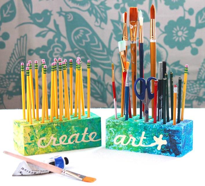 Create Art Utensil and Pencil holders