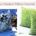 How to Recover Outdoor Pillows and a Mini Patio Makeover #LowesCreator