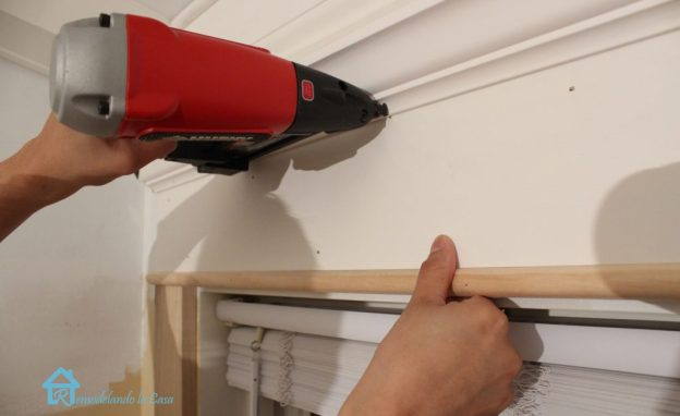 nailing crown molding to window lg