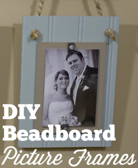 DIY Beadboard Picture Frames