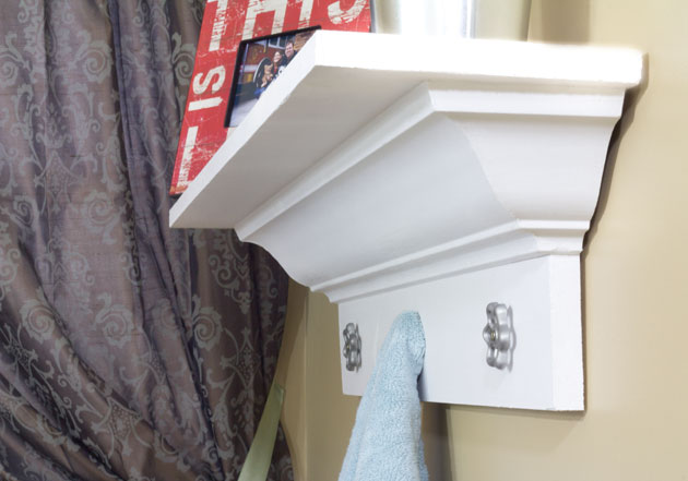 How to Build a Decorative Shelf With Crown Molding
