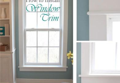 Interior Vinyl Window Trim