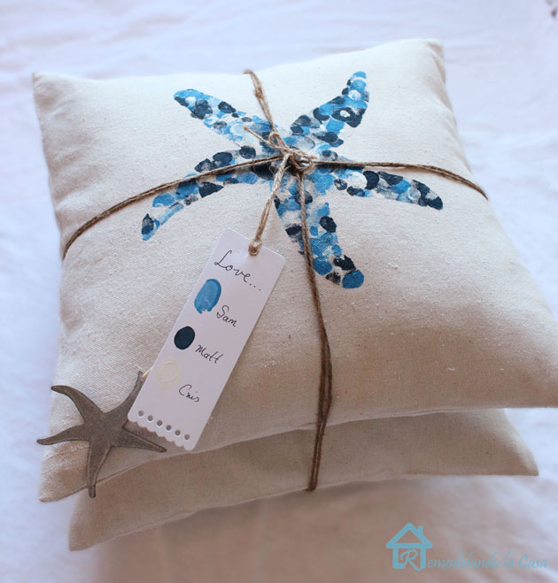 Thumbprint pillows with tag-2