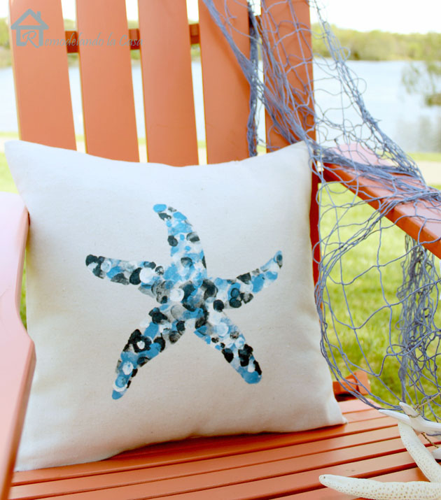 Thumbprint starfish pillow1