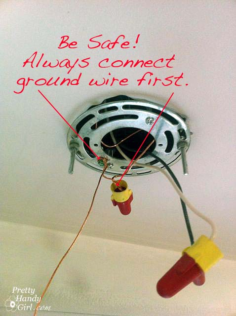 Wiring A Lamp Which Is Ground