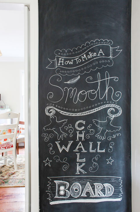 chalkboard paint projects create a smooth wall