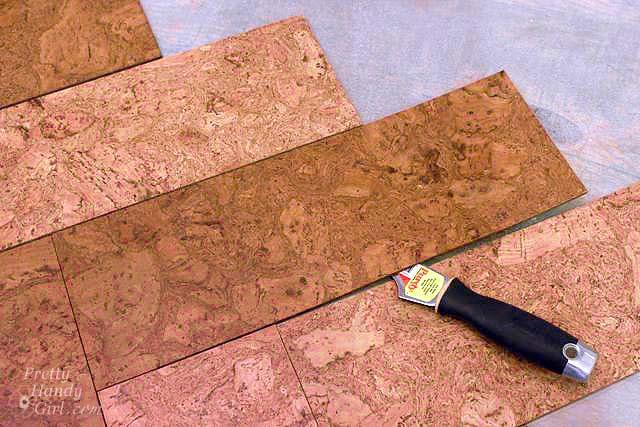 Installing Cork Tile Flooring In The Kitchen Pretty Handy Girl