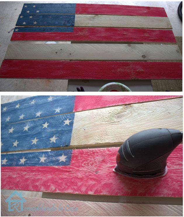 sanding flag sign