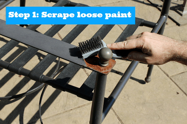 Step 1 Scrape Loose Paint