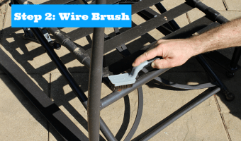 Step 2 Wire Brush
