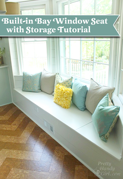 built in bay window seat with storage tutorial