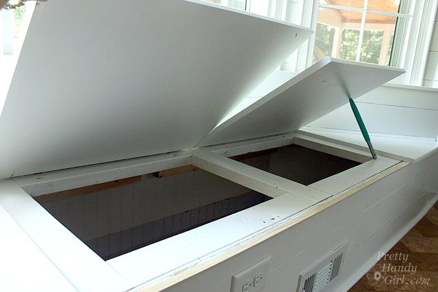 storage in window seat