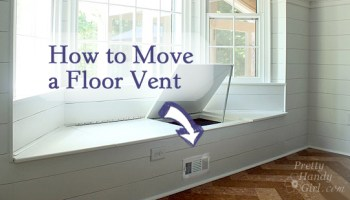 how to move a floor register in a window seat - Bay Window Seat