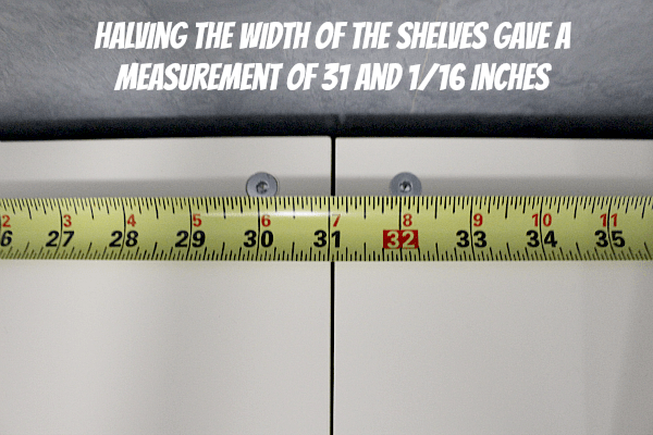 Halving the Width of the Shelves