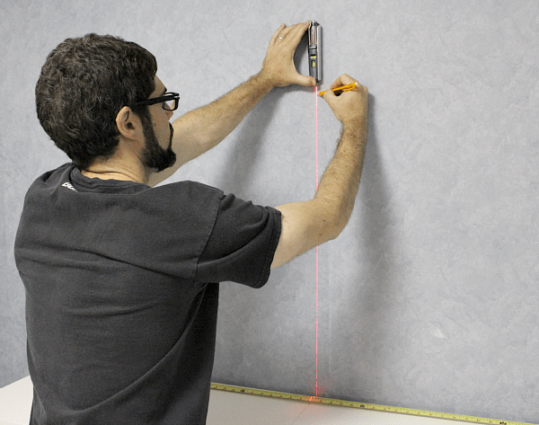 Height & width measurements with laser level