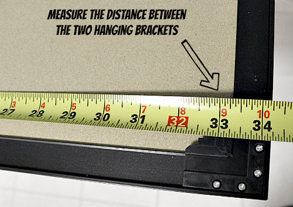 Measure the Distance Between the Brackets