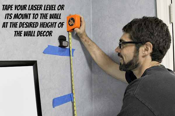 Tape Laser Level or Mount to Wall