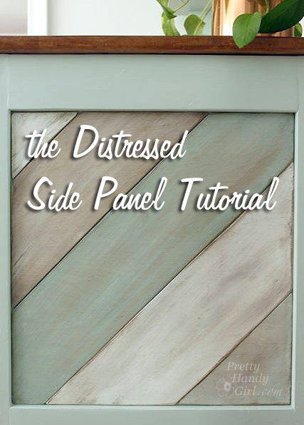 The Distressed painted side panel tutorial