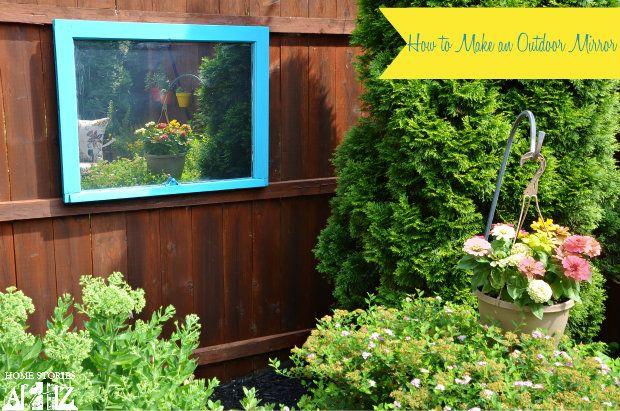 Make An Outdoor Mirror | 30 Amazing DIY Mirrors