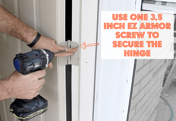 Secure Hinge with 3.5 Inch Screw