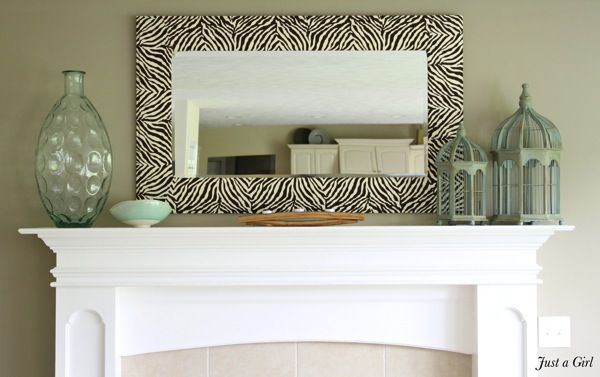 Zebra Mirror | 30 Amazing DIY Mirrors