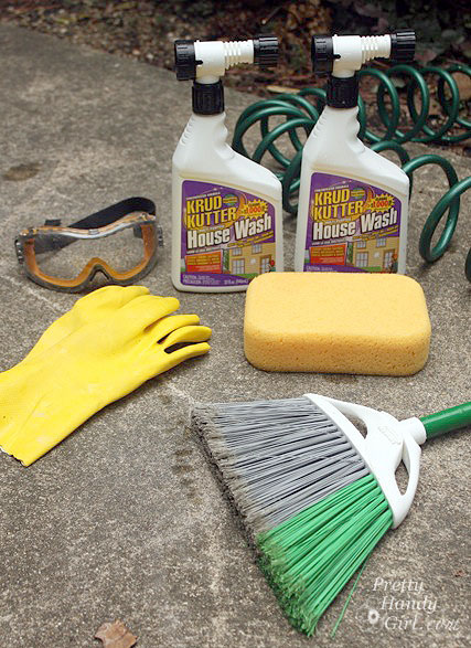 How to Clean Your House Exterior without a Pressure Washer or Ladder - Krud Kutter House Cleaner