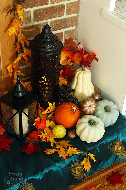 Autumn Mantel Décor and Vignettes   Pretty Handy Girl
