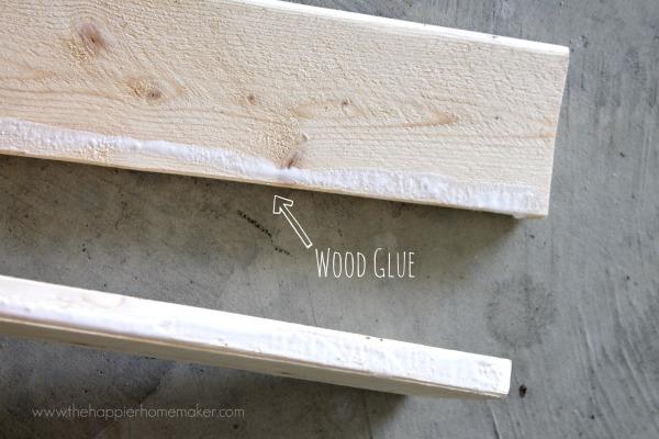 wood glue jewelry organizer