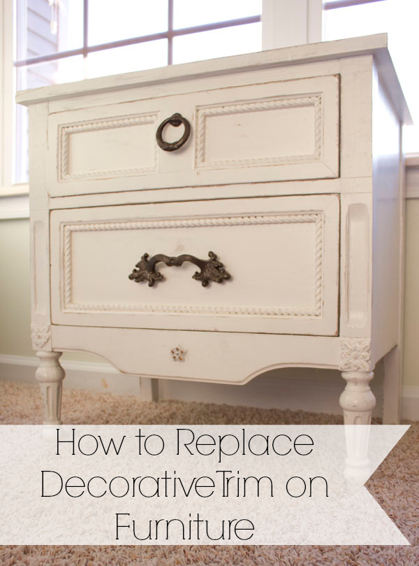 How To Replace A Bathroom Faucet Youtube: How To Replace Decorative Trim On Furniture