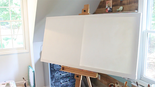 How to DIY a GIANT Artist Canvas