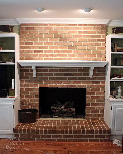 Build a fireplace insert draft stopper a lowes creator idea build a fireplace insert draft stopper with reclaimed lumber pretty handy girl solutioingenieria Images