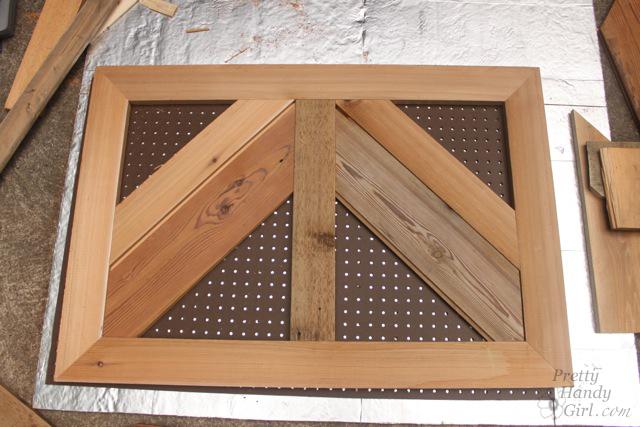 Build a Fireplace Insert Draft Stopper with Reclaimed Lumber | Pretty Handy Girl
