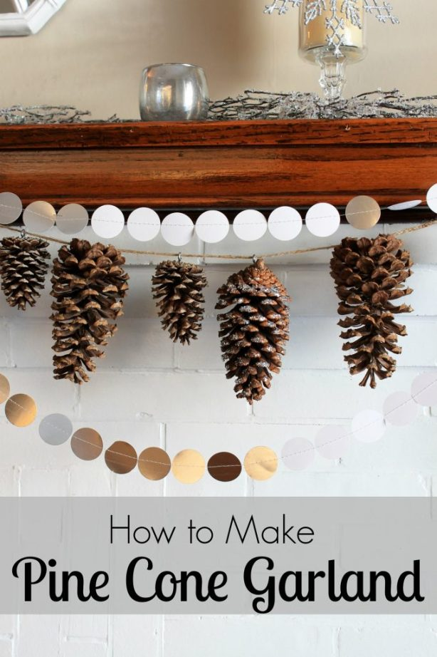 How to Make Pine Cone Garland