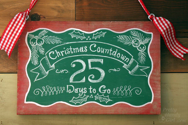 chalkboard paint projects for christmas sign