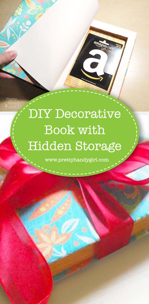 book with red ribbon bow and hidden storage