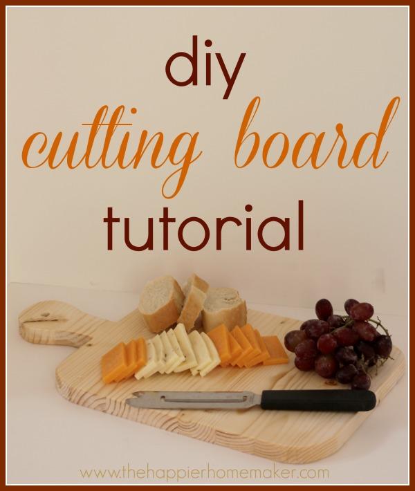 diy cutting board tutorial