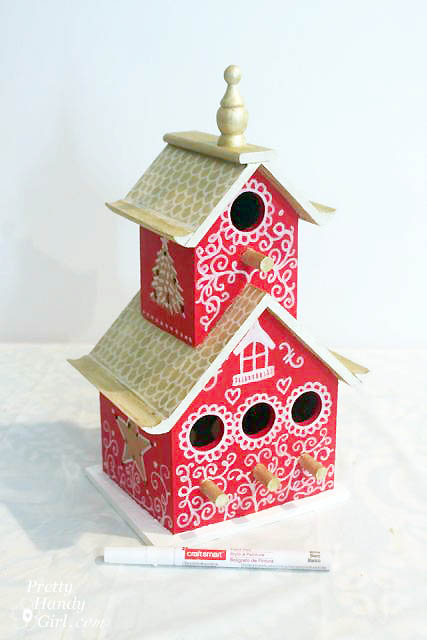 Birdhouse Christmas Tree Topper