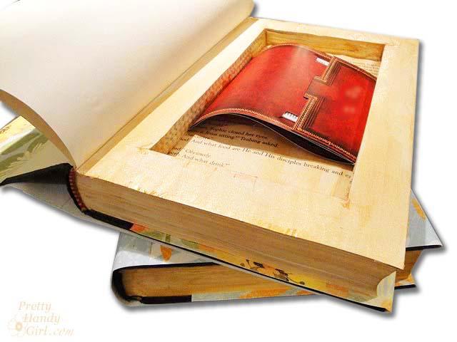 Book with Hidden Storage | Pretty Handy Girl