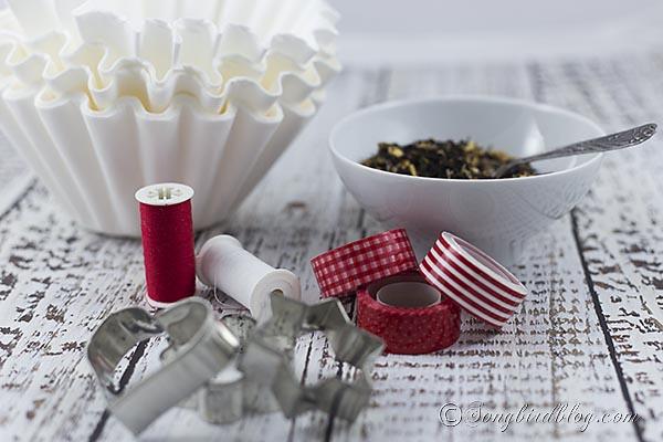 Supplies for homemade tea bags