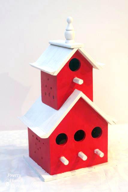 Painted Birdhouse Tree Topper Tutorial   Pretty Handy Girl