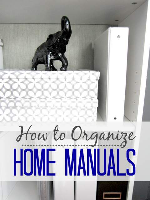 how to organize home manuals pretty handy girl rh prettyhandygirl com organizing warranties and owner's manuals organizing warranties and owner's manuals