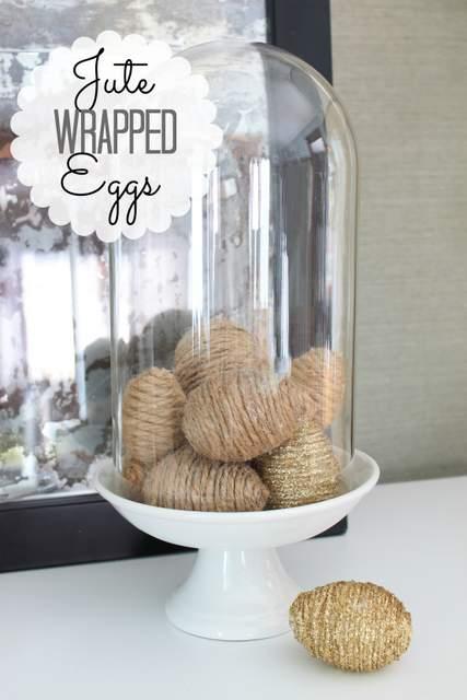 Jute Wrapped Eggs