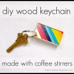 DIY Colorful Coffee Stirrer Keychain