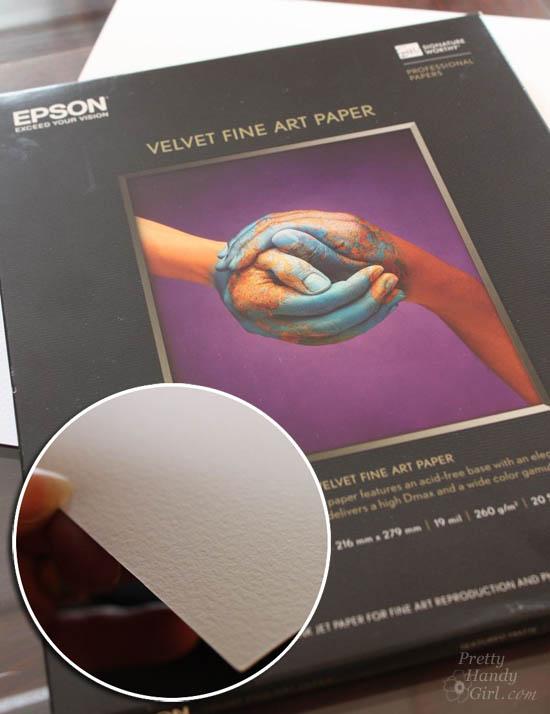 Epson Velvet Fine Art Paper | Pretty Handy Girl