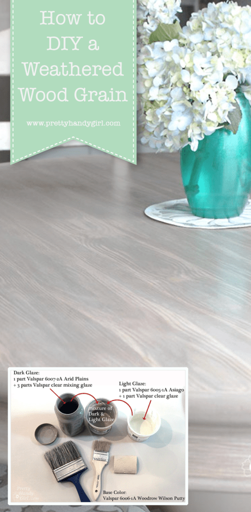 weathered wood grain on dining table