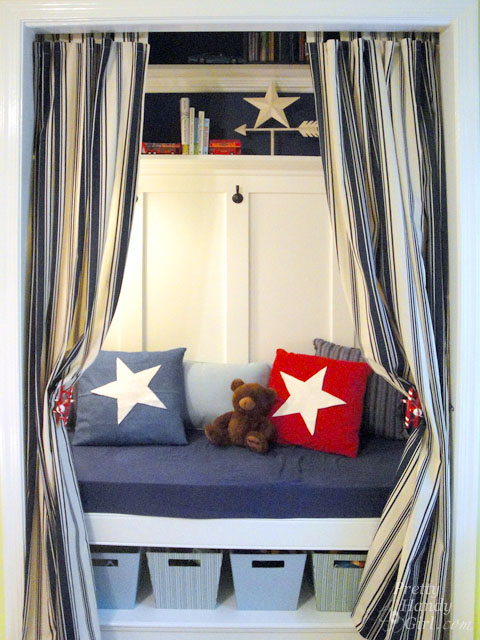 Closet Reading Nook | Pretty Handy Girl